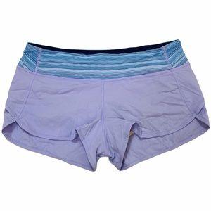 Lululemon Purple and Blue Speed Shorts Size 8